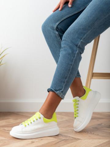 Pantofi sport cod 20C01 White/Green