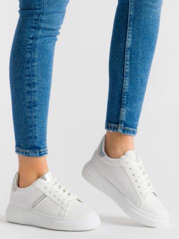 Pantofi sport cod 85-423 White/Silver