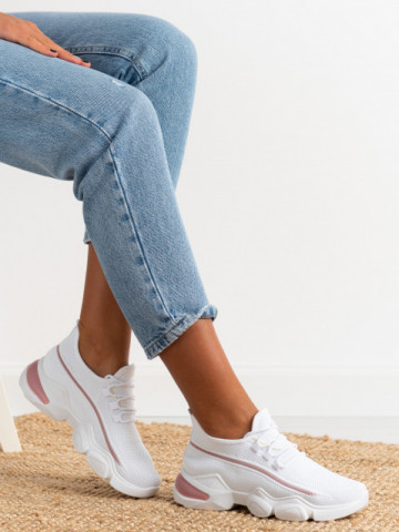 Pantofi sport cod 86001 White/Pink
