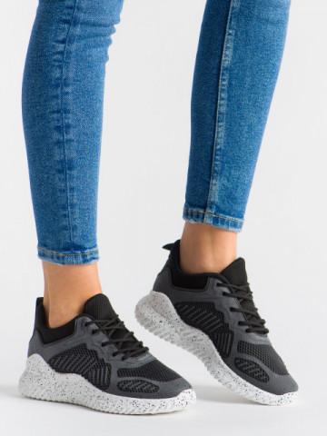Pantofi sport cod A005 White/Black