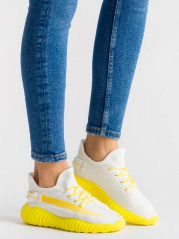 Pantofi sport cod B01 White/Yellow