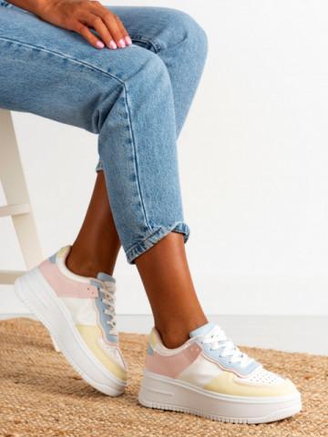 Pantofi sport cod B21-531 Pink/Yellow