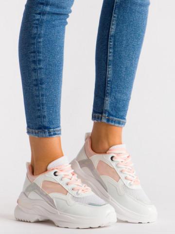 Pantofi sport cod BO537 White/Pink