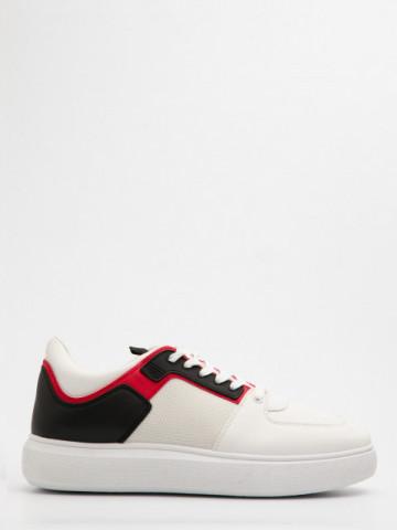 Pantofi sport cod D858 White/Red