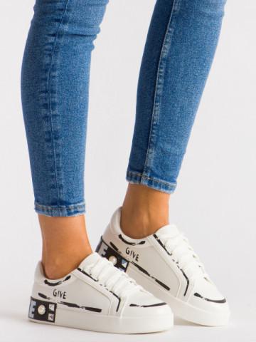 Pantofi sport cod G272 White