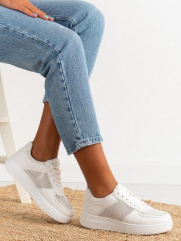Pantofi sport cod J1853 All White