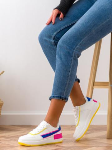 Pantofi sport cod K01 White/Blue
