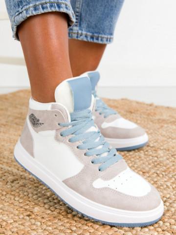 Pantofi sport cod KV15 White/Gray/Blue