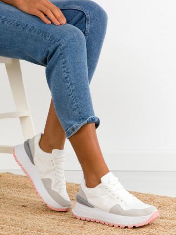Pantofi sport cod SO679 White/Grey