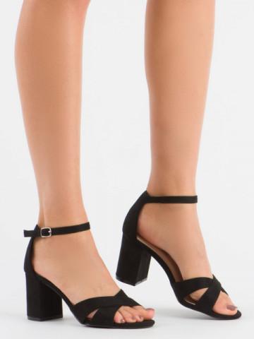 Sandale cu toc cod 1-124 Black