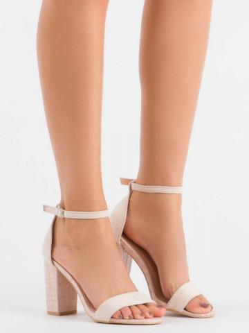 Sandale cu toc cod 223 Pink