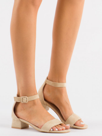 Sandale cu toc cod 3008 Beige