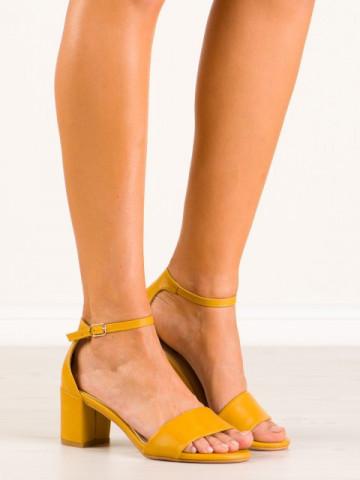 Sandale cu toc cod 7313-26 Yellow