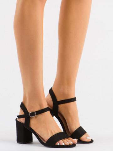 Sandale cu toc cod 8158 Black