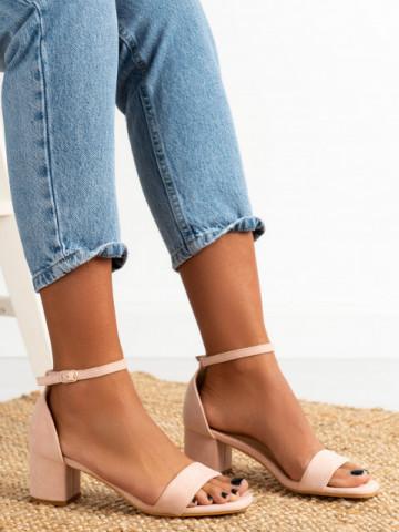 Sandale cu toc cod 8833 Pink