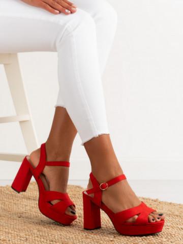 Sandale cu toc cod 9R28 Red