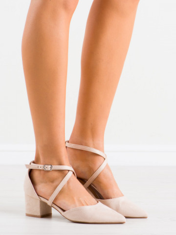 Sandale cu toc cod AF01 Beige