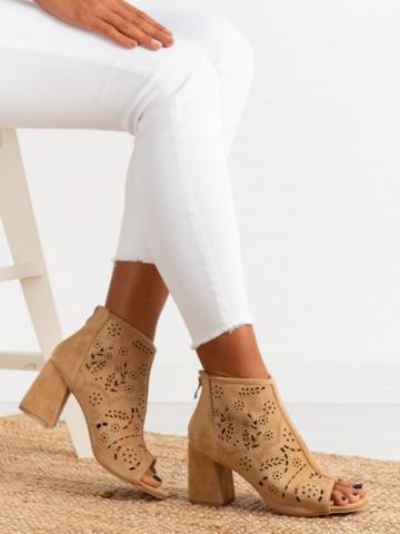 Sandale cu toc cod BL00092 Khaki