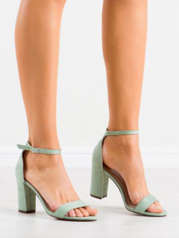 Sandale cu toc cod CD59 Green