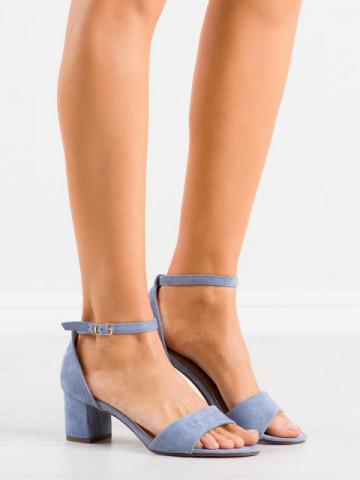 Sandale cu toc cod F188 Blue