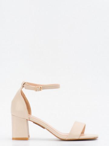 Sandale cu toc cod GG99 Beige