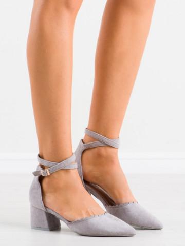Sandale cu toc cod LE077 Grey