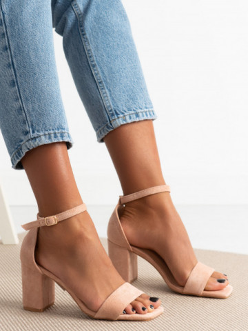 Sandale cu toc cod LL244 Pink