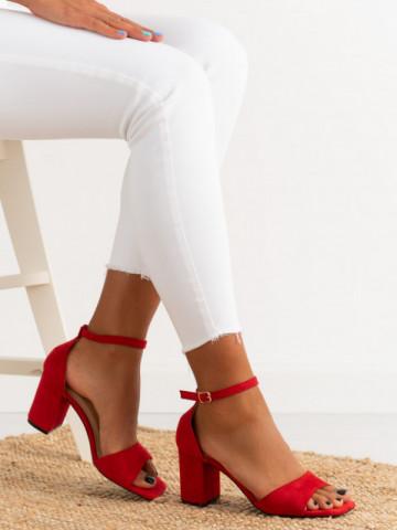Sandale cu toc cod LL247 Red