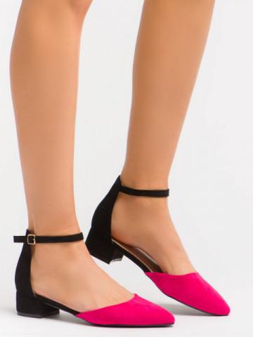 Sandale cu toc cod LU0039 Black/Pink