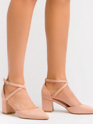 Sandale cu toc cod OD0208 Pink