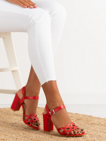 Sandale cu toc cod S863 Red