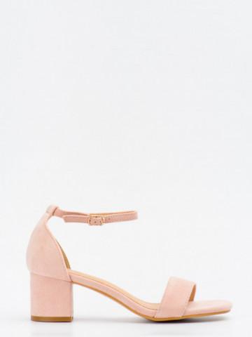 Sandale cu toc cod SK73 Pink