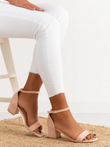 Sandale cu toc cod TU171 Pink
