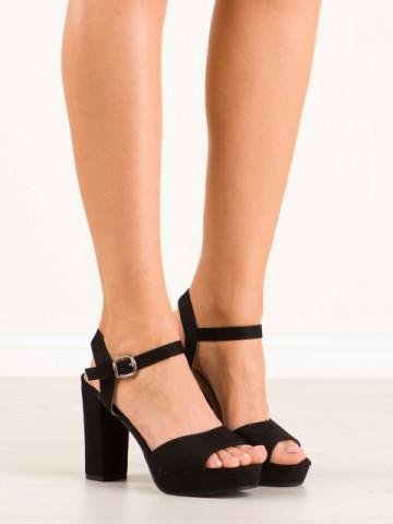 Sandale cu toc cod YL96095 Black