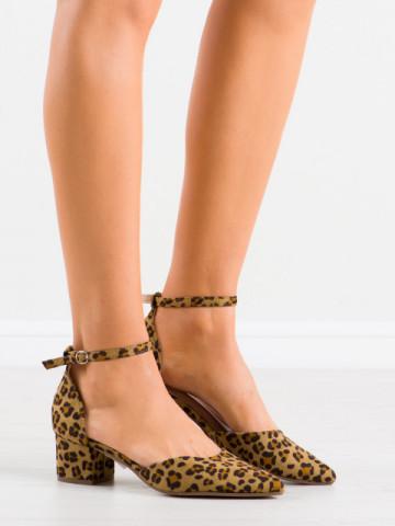 Sandale cu toc cod NF28 Leopard