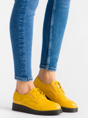 Pantofi casual cod EK0090 Yellow