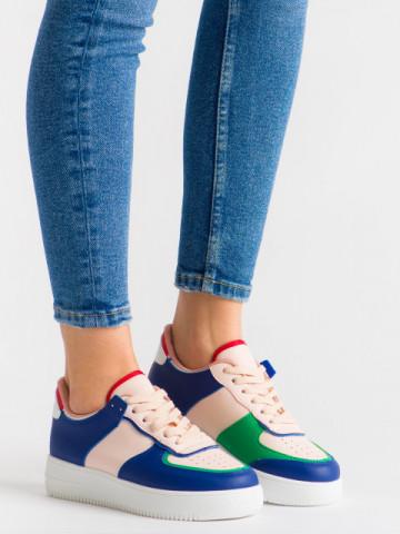 Pantofi sport cod R-698 Blue/Pink
