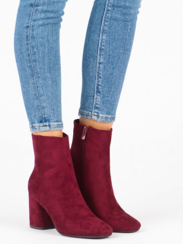 Botine cod 3486 Wine Red