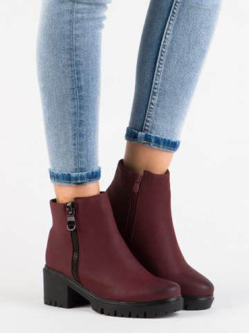Botine cod T027-42 Wine Red