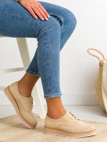 Pantofi casual cod DS506 Apricot
