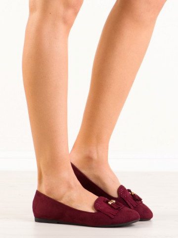 Pantofi casual cod H7207 Burdeos
