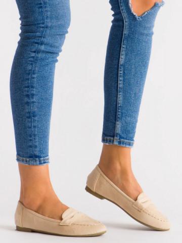 Pantofi casual cod L6392 Beige