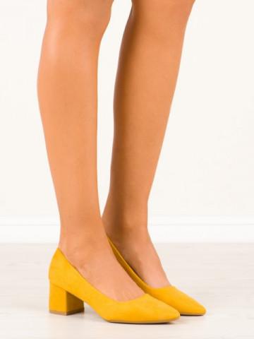 Pantofi cu toc cod CC210 Yellow