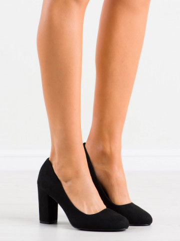 Pantofi cu toc cod E08-10 Black