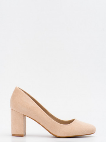 Pantofi cu toc cod LL239 Beige