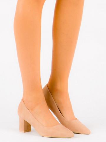 Pantofi cu toc cod OD0142 Beige