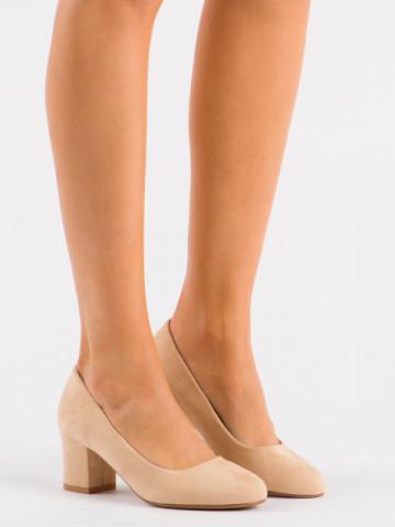 Pantofi cu toc cod XKK251 Nude