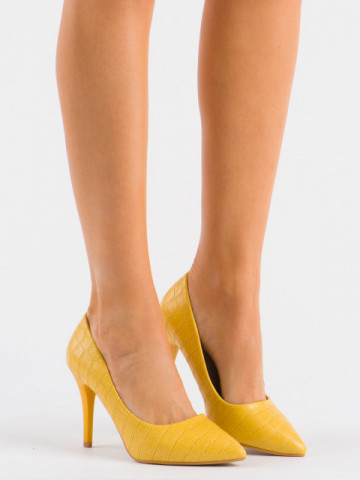 Pantofi cu toc cod XQ260 Yellow