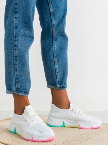 Pantofi sport cod 0115-3 White/Green