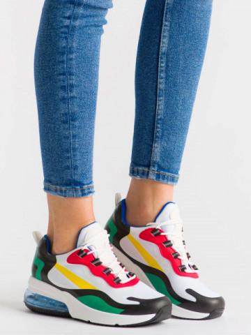 Pantofi sport cod 2235 White/Green